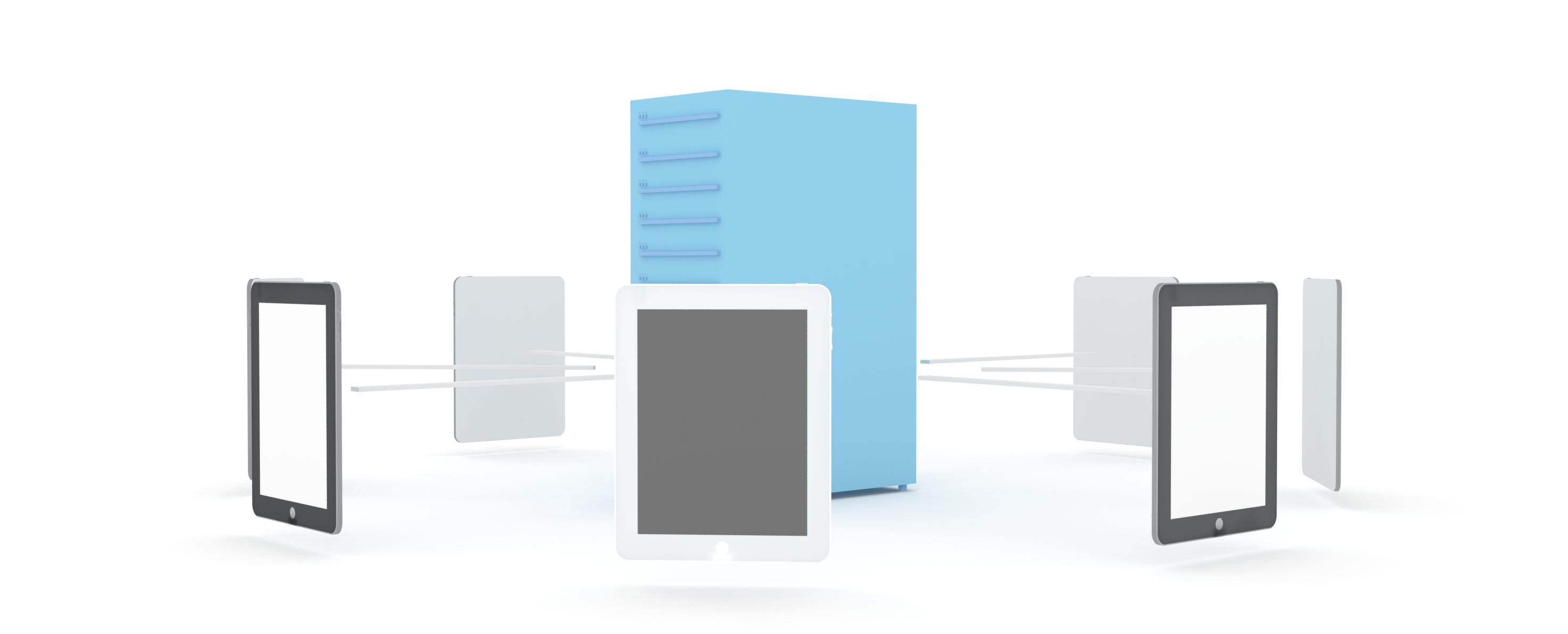 Ilustrativo tablets servidor
