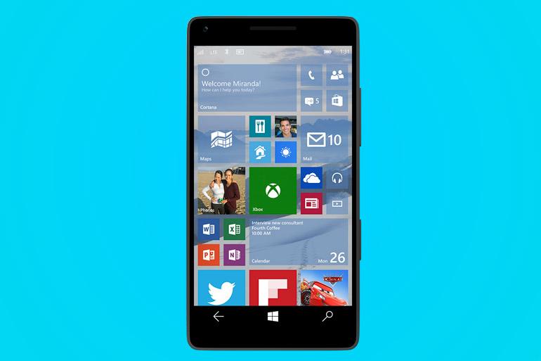 Windows 10 smartphone